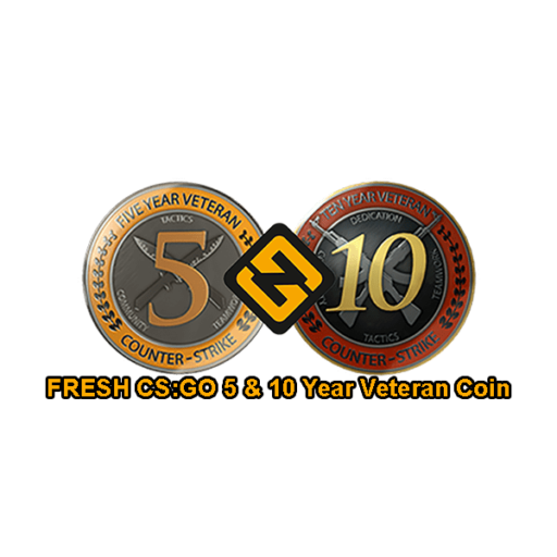 FRESH CSGO 5 & 10 Year Veteran Coin Accounts