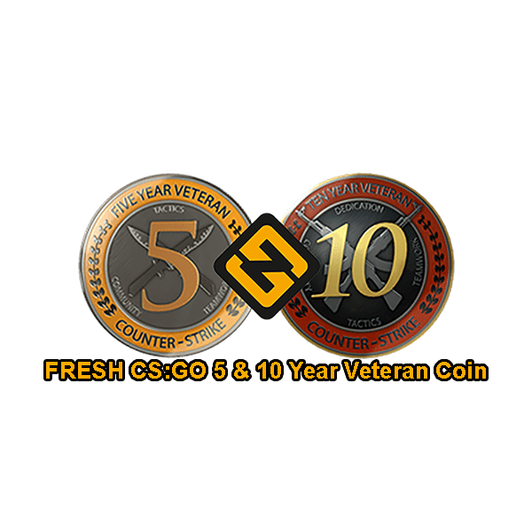 FRESH CSGO 5 & 10 Year Veteran Coin Accounts