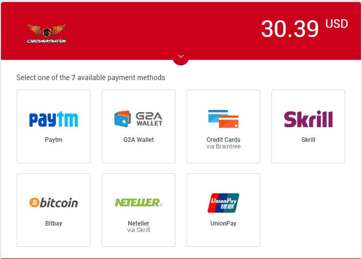 G2a Pay Paysafecard